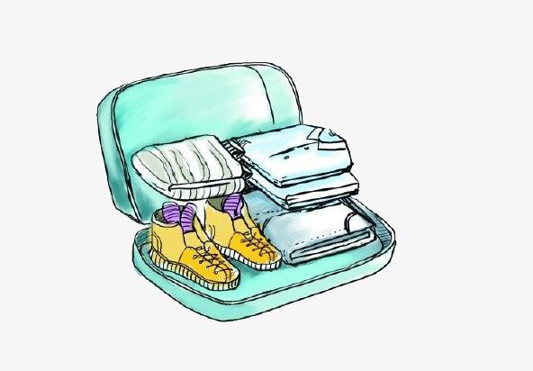 Le dessin de la valise valise v tements chaussures image - Dessin de valise ...