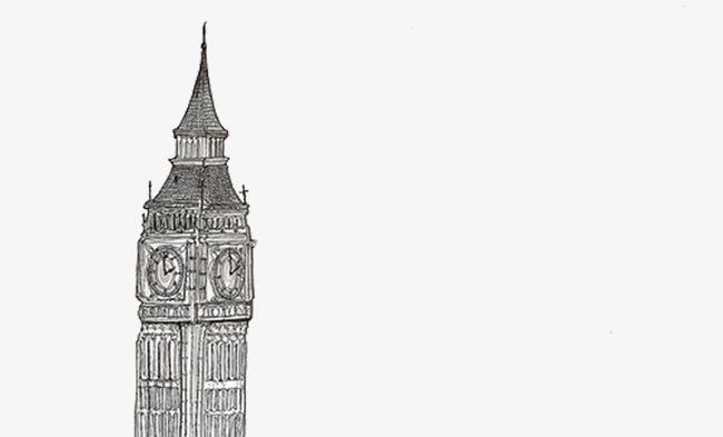 la tour de londres de dessins anim u00e9s peint  u00e0 la main illustration le tourisme image png pour le