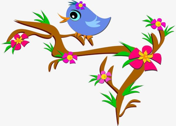 Cartoon Tree Bird Flowers Tree Clipart Bird Clipart Cartoon