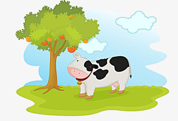 كرتون تحت الشجرة البقرة كرتون تحت الشجرة الماشية PNG صورة ...