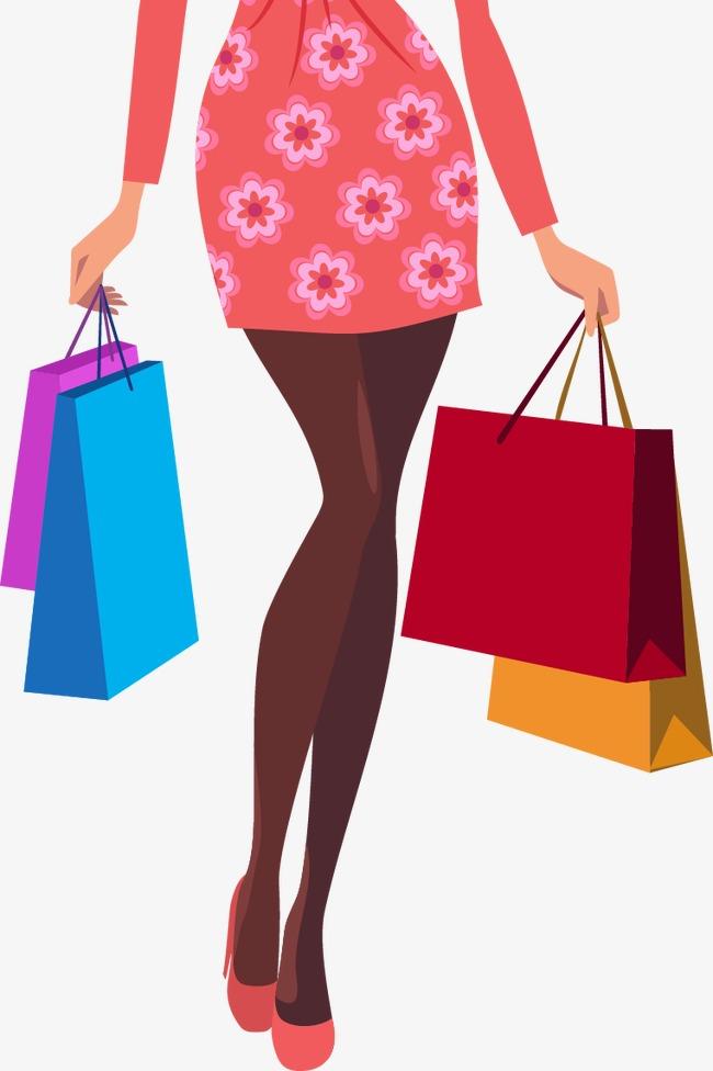 Dessin Shopping cartoon vector decorative fashion beauty shopping, cartoon vector