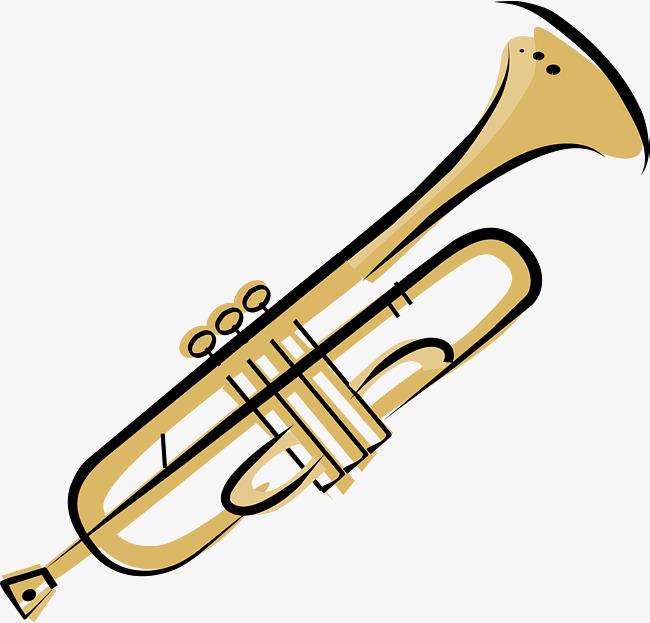 Gráfico De Vetor De Desenhos Animados Horn Instrumento De