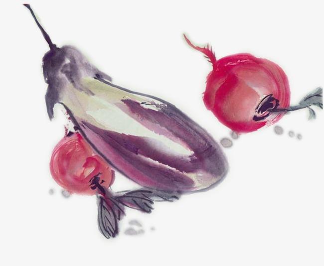 Cartoon Watercolor Eggplant Cartoon Clipart Watercolor Clipart