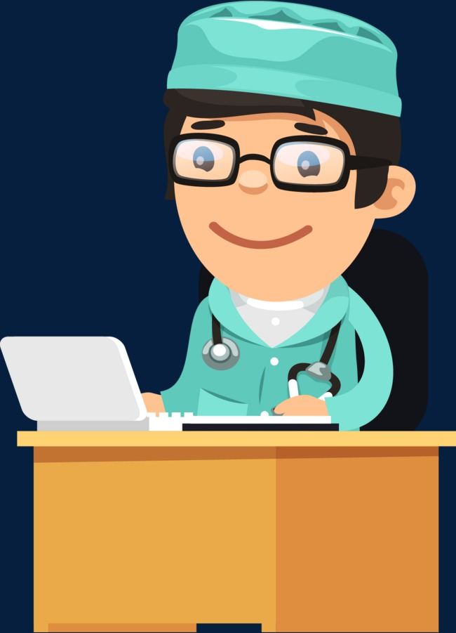 cartoon workplace director hospital director cutout  cartoon vector  workplace characters