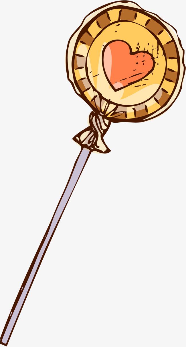 Kẹo mút hoạt hình màu vàng Miễn phí PNG và Clip nghệ thuật