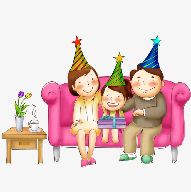 Geburtstag Feiern Familie Sofa Rot Geburtstag Png Bild Und Clipart
