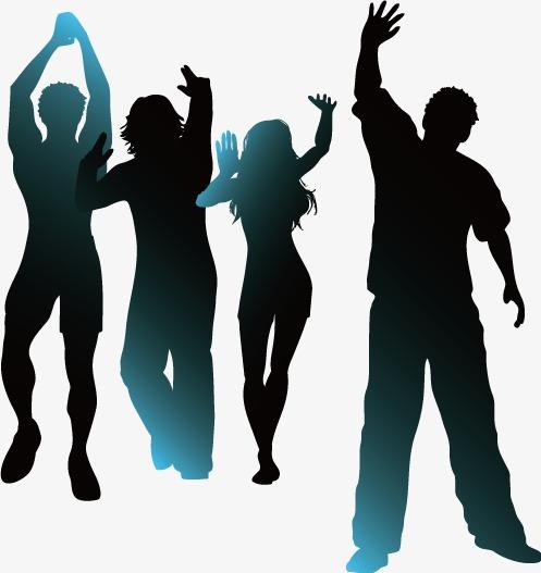personnage danser noir et blanc silhouette png et vecteur pour t u00e9l u00e9chargement gratuit