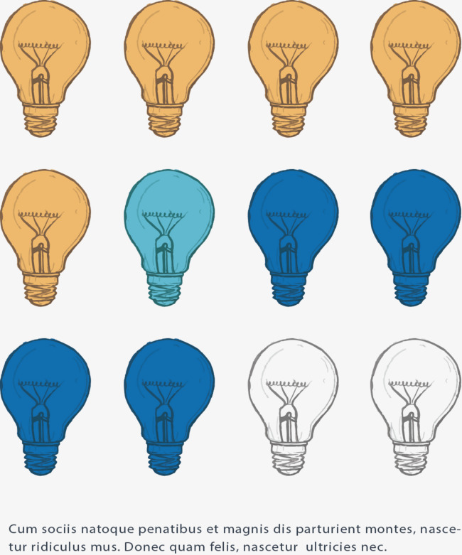 Chart Bulb Color Difference Chart Vector Color Vector Light Bulb