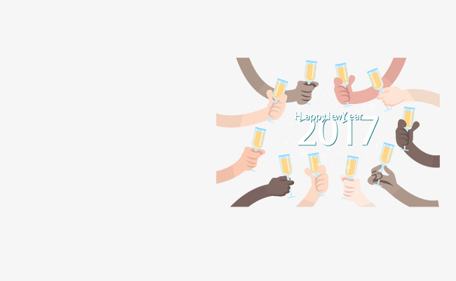 cheers 2017 new year card toast vector png and vector