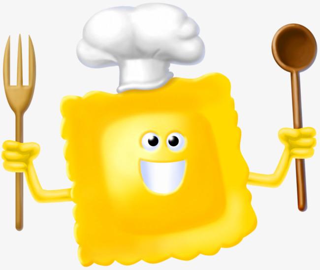 Memegang Garpu Dan Pisau Roti Chef Chef Tangan Dicat Comel Imej Png