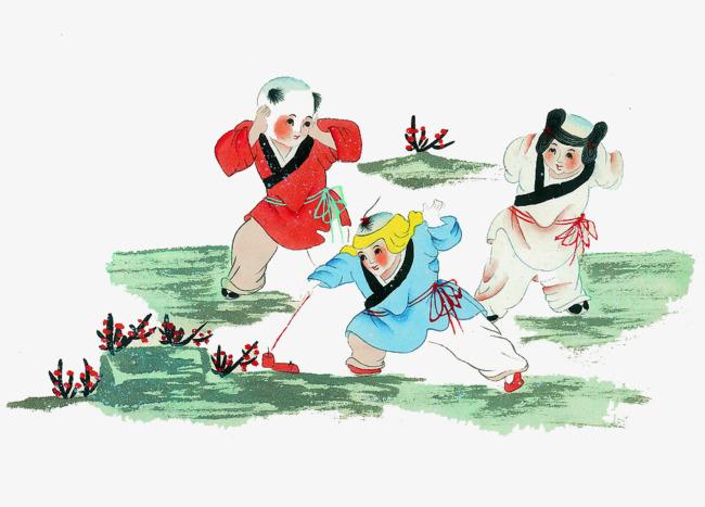 Juegos Infantiles Infantil Juego De Ninos Pintura Tradicional China