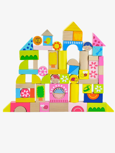 Childrens Toy Building Blocks Clipart Preschool PNG Image And
