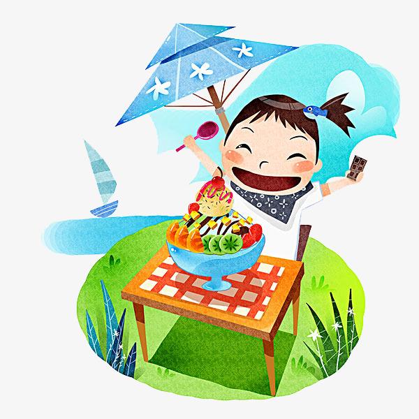 Die Kinder Essen Hand Malerei Kind Lebensmittel Png Bild Und Clipart