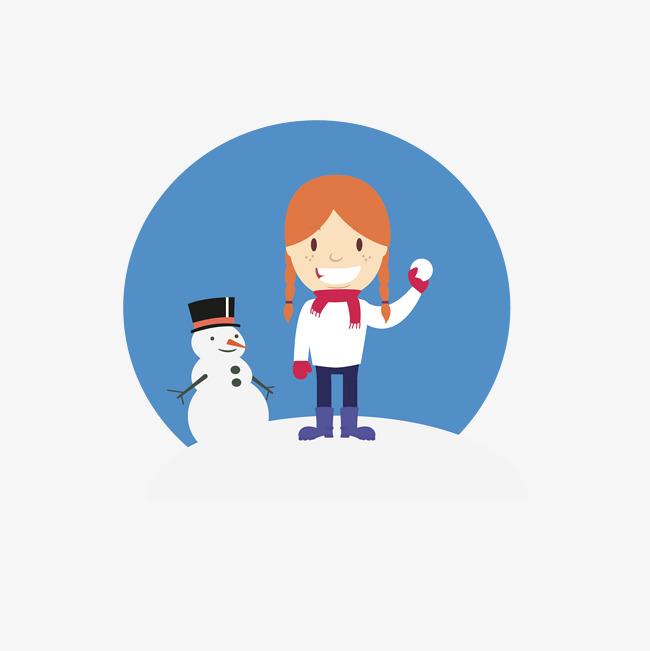 Ninos Jugando Nieve Snowman Diseno Material Los Ninos Juegan Jugar