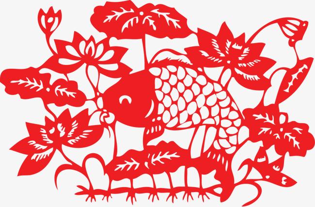 中国の剪紙の絵の模様の模様の図案 中国と中国の切り絵のピクチャー