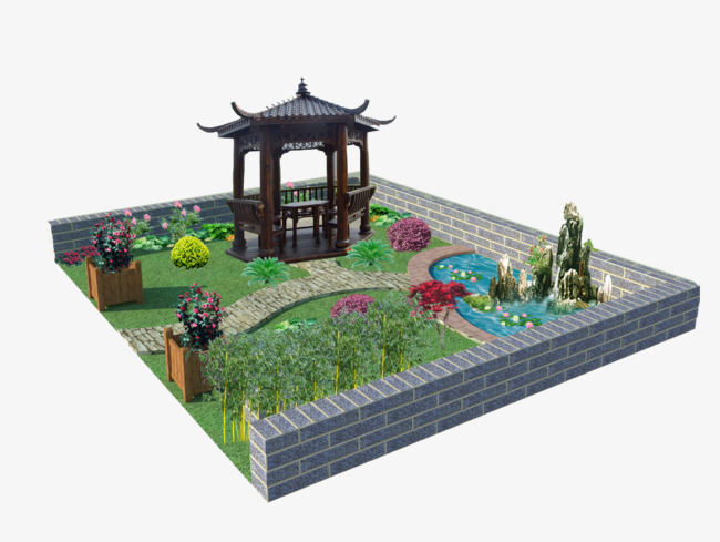 Chinese Style Garden Model, Chinese Clipart, Garden Clipart, Chinese on idea landscaping outdoor garden design, chinese style garden arbor, formal japanese garden design, asian garden design, japanese bamboo garden design,