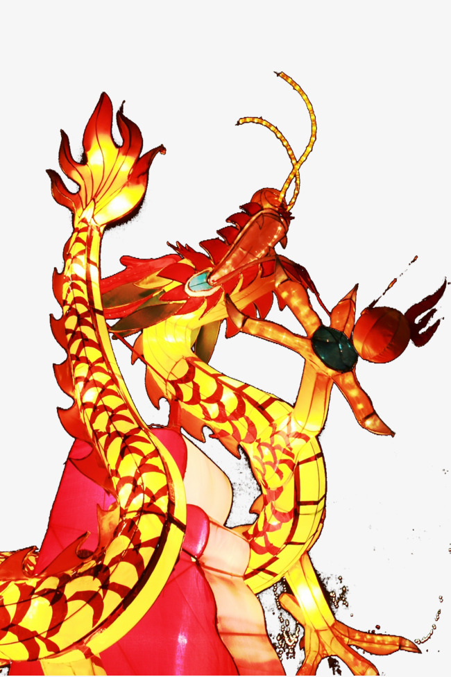 Luz De Viento Dragon Chino Dragon Light Estilo Chino Rojo Imagen PNG ...