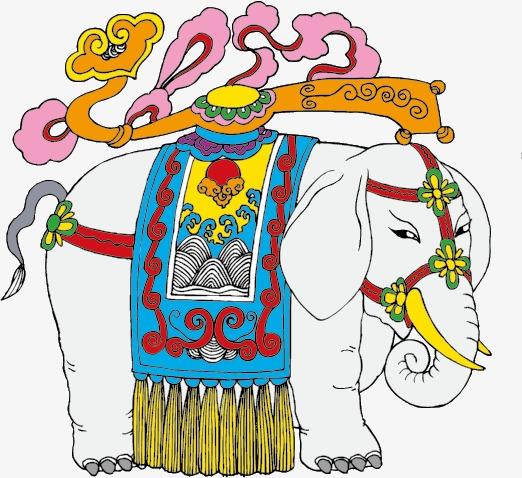 Elefanten Elemente Der Chinesischen Wind Der Wind In China ...