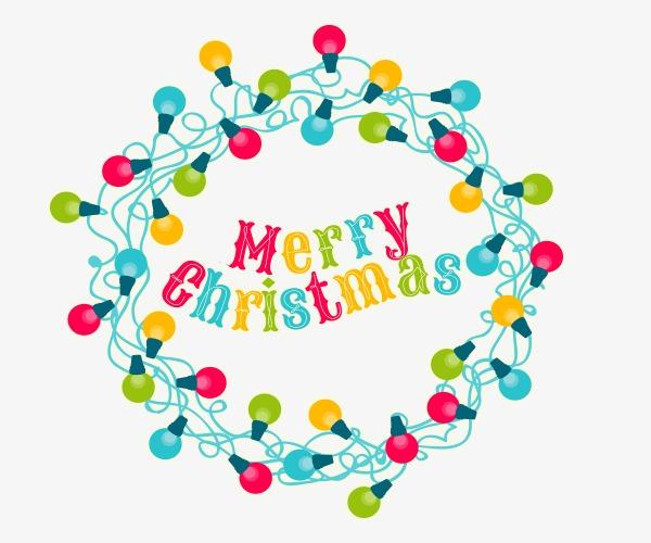 Bombilla De Color De Navidad Bombilla De Color De Navidad Elementos ...