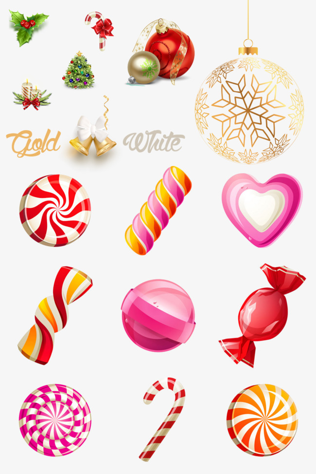 christmas decorations christmas candy christmas tree png image and clipart