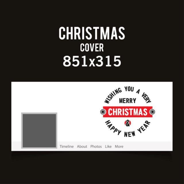 Portada de facebook de Navidad en color blanco con tipografía ...