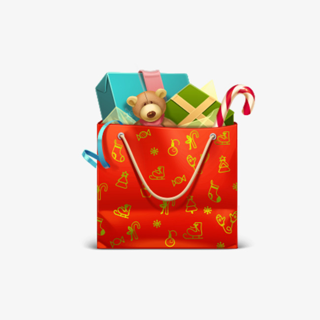 Christmas gift bags cliparts