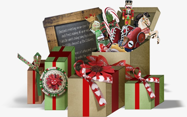 Christmas gift boxes pictures