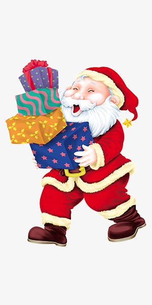 christmas gifts for the elderly santa claus gift old people png image and