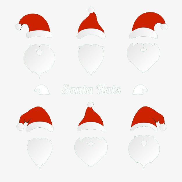 9525716cccfb7 Christmas Hat And Beard