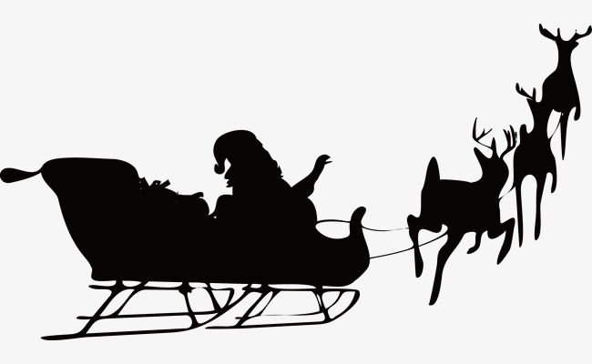 Christmas Reindeer By People Vector Silhouettes Sketch PNG And