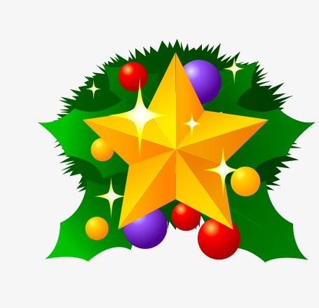 christmas star, Star Clipart, Christmas Decoration PNG Image and Clipart