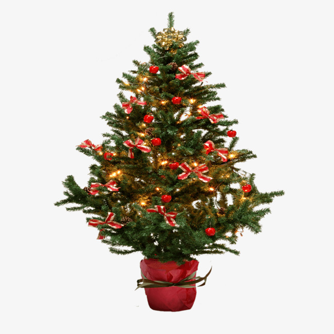 Christmas Tree Ornaments And Small Clipart Red Green Png Image