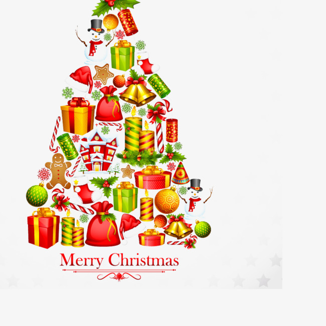 Der Weihnachtsbaum Der Weihnachtsmann Geschenke Band Png Bild Und
