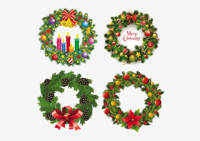 Corona De Navidad Navidad Corona Vela Imagen PNG Para