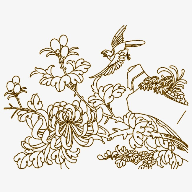 Crisantemo Textura Bordado Patron Decorativo Patrón En Grano ...