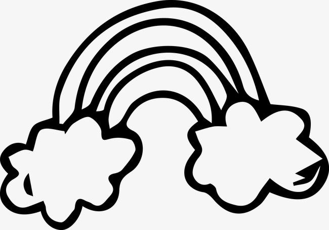 Arco De Imagen Png Png Dibujo: Nubes Arco Iris Pintado Cartoon Pintado A Mano De Dibujos
