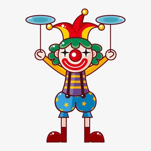 O palha o color o nariz vermelho o palha o png imagem para - Image jongleur cirque ...