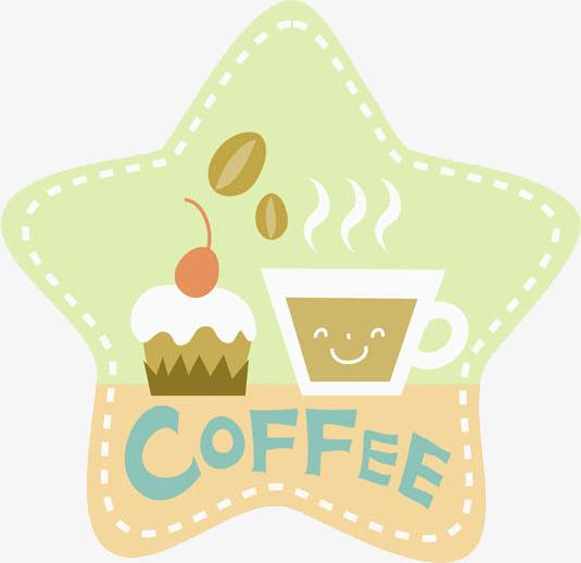 Kaffee Und Kuchen Kaffee Und Kuchen Comic Stars Dekorative Muster
