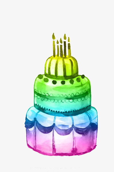 Color Birthday Cake Birthday Clipart Cake Clipart Color Clipart