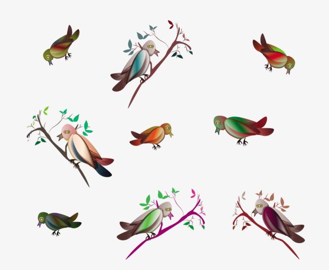 Dessin De Couleur De Petit Oiseau Sur La Branche Petit Oiseau Les
