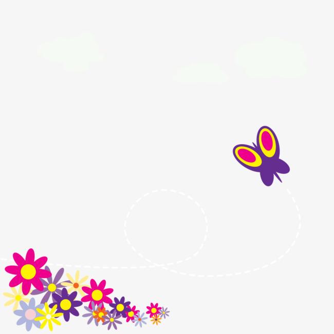 Dessin En Couleur Et Petit Papillon Fleur Dessin En Couleur Dessin