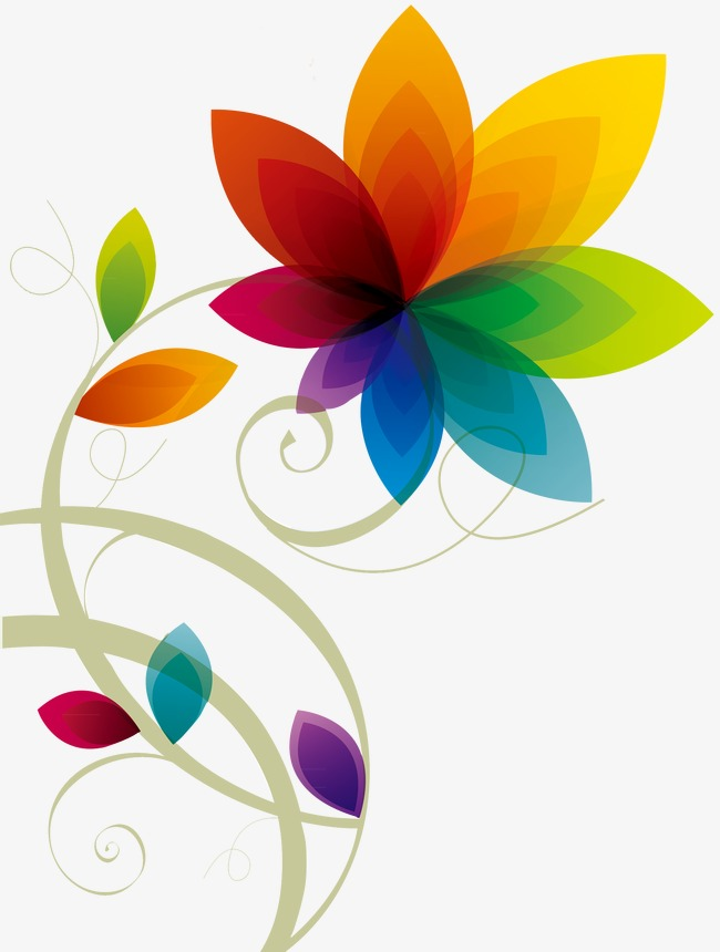 Color Flowers, Color Clipart, Decorative Flowers, Colored ... Colorful Flowers Clipart