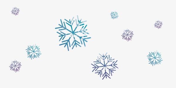 Copos De Nieve De Color Romántico Flotando Color