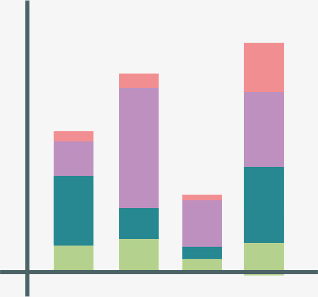 Color Stacking Bar Chart Color Vector Chart Vector Vector Png Png