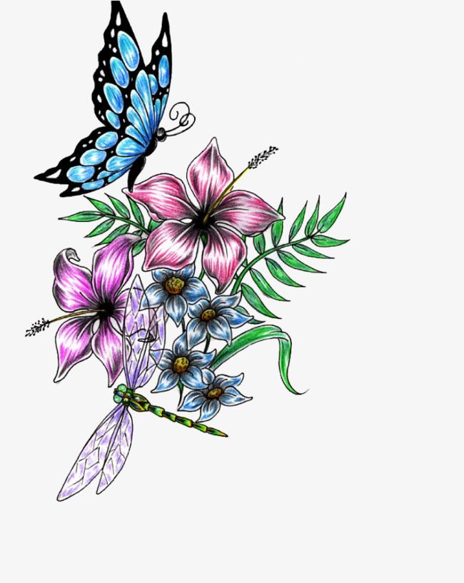 Mariposa De Colores En La Flor Mariposa Hojas Verdes Flores Imagen ...