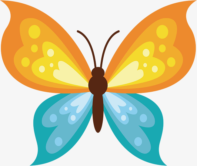 Colored Crystal Butterfly Crystal Vector Butterfly Vector