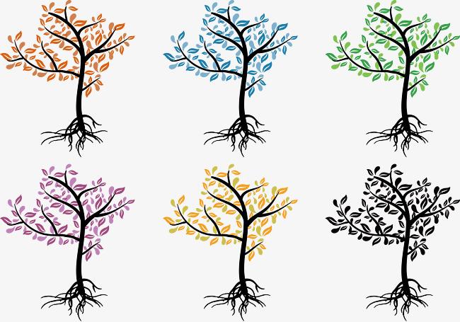 Patrón De Hojas De Colores Comienzo Del Invierno Hojas Color PNG y ...