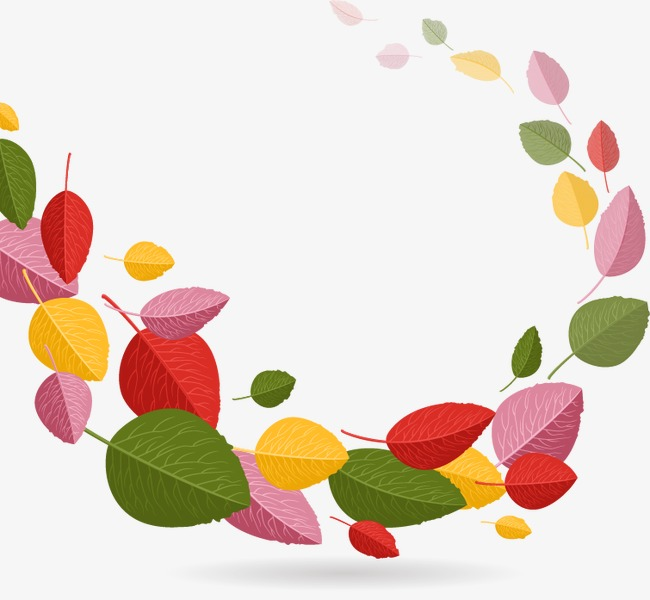 Hojas De Primavera De Colores Color Hojas De Primavera Vector De ...