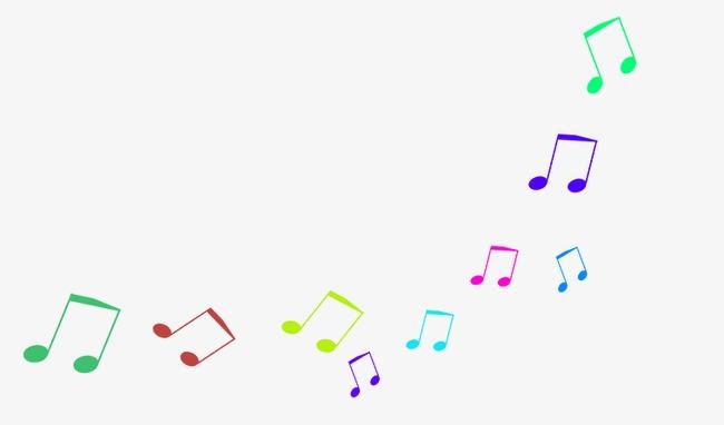 Colorido Símbolo Musical Colorido Musica Símbolo PNG Y