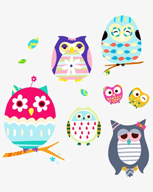 Colorful Owl Owl Clipart Lovely Painting Png Image And Clipart
